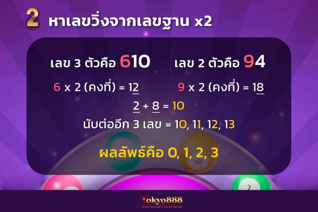 สูตรหวยฮานอยที่ 2 สูตรหาเลขวิ่งจากเลขฐานคูณสอง