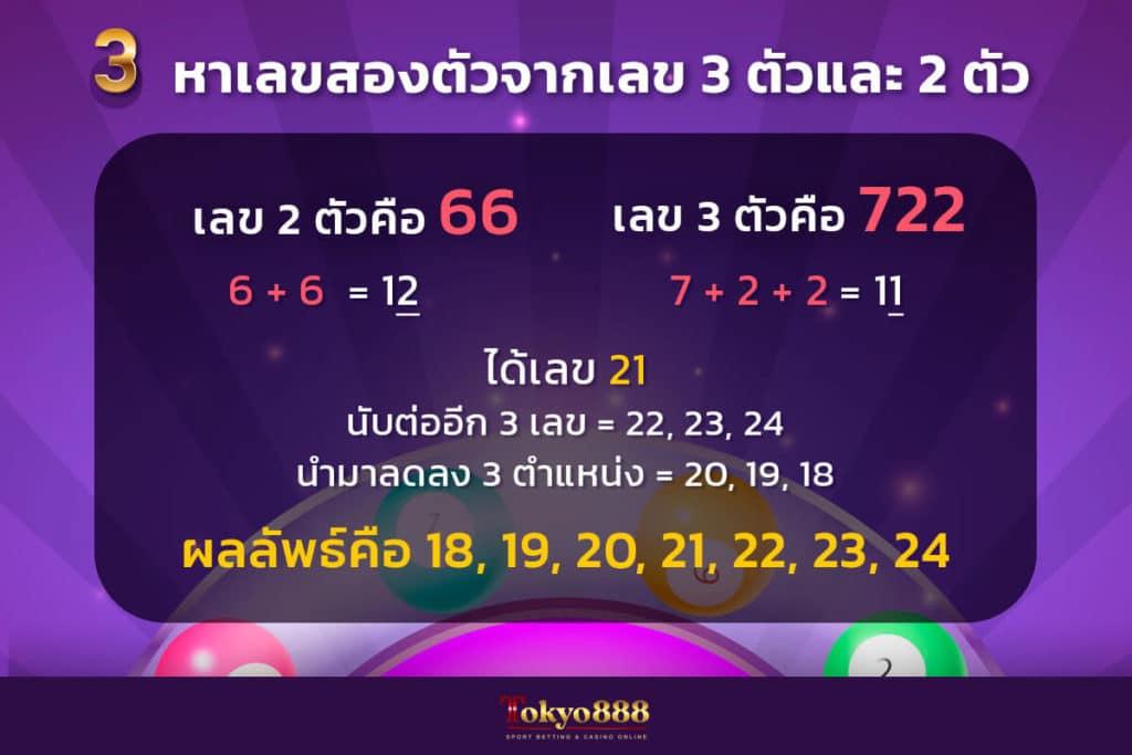 สูตรหวยฮานอยสูตรที่ 3 สูตรหาเลขสองตัวจากเลข 3 ตัวและ 2 ตัว